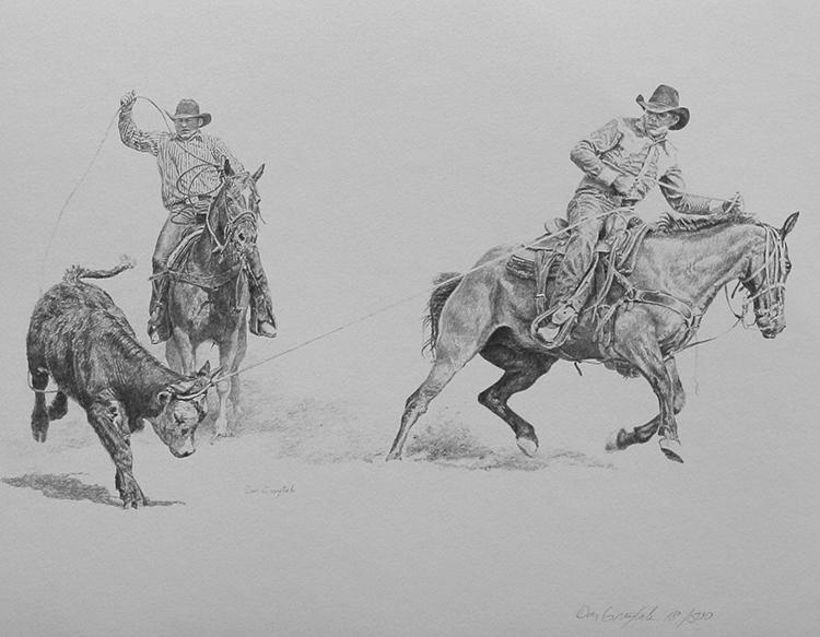 Rodeo Sketch Art